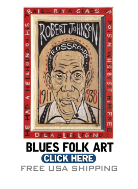 Blues Folk Art Paintings and Blues Gifts