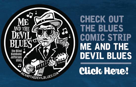 Blues music themed comic strip